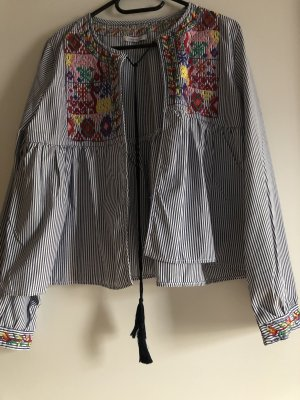 Kimono Blouse white-azure