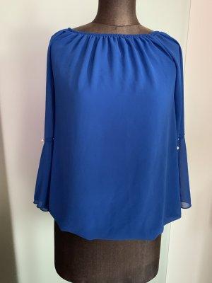 Carmen blouse blauw
