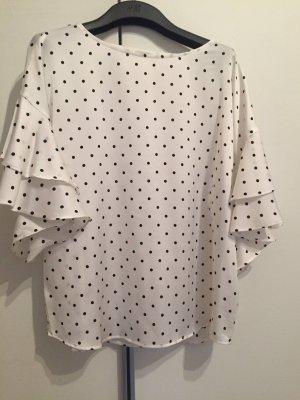 H&M Conscious Collection Blouse Carmen blanc-noir