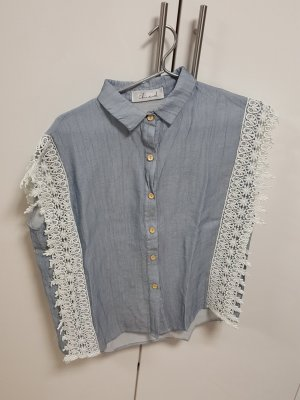 Chicwish Blouse white-azure