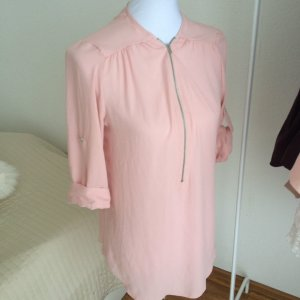 Bluse Chiffon Gr. 34 S Rosa Nude Primark Shabby Chic Sommer Lagenlook