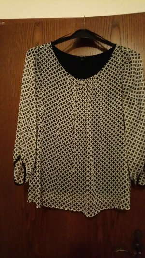 Comma Blouse wit-zwart
