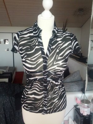 #Bluse #Comma #Designer #Animalprint #Business #halb transparent