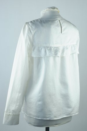 Blouse à enfiler blanc tissu mixte