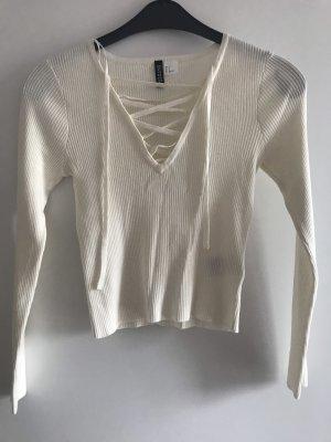 H&M Empiècement de blouses crème