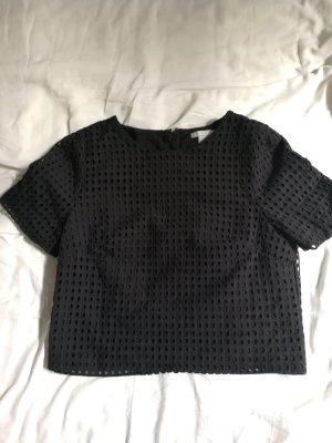 Bluse crop top mit lochmuster von H&M in Gr 34, ungetragen!