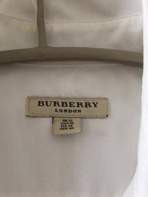 Burberry Camicetta a maniche lunghe bianco Cotone