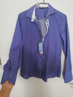 Eterna Abito blusa camicia blu Cotone