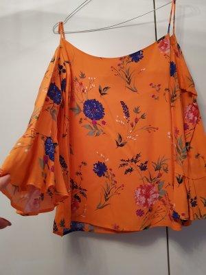 Reserved Carmen Blouse orange-blue
