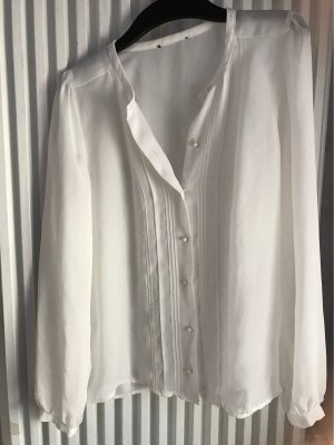H&M Transparante blouse wit
