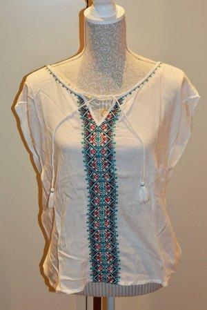 Orsay Mouwloze blouse wit-bos Groen