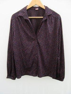 Bluse Damen Vintage Retro Rosen Gr. 40/42