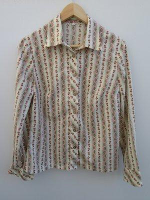 Bluse Damen Vintage Retro Rosen Gr. 40/42 Tracht