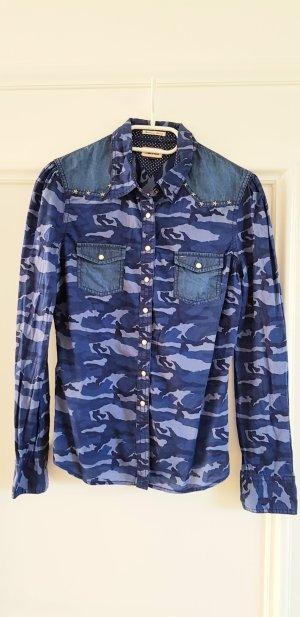 Bluse Damenhemd denim Camouflage HILFIGER