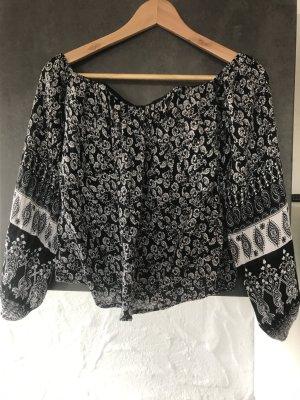 Amisu Blusa negro-blanco