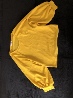 Blusa collo a cravatta giallo