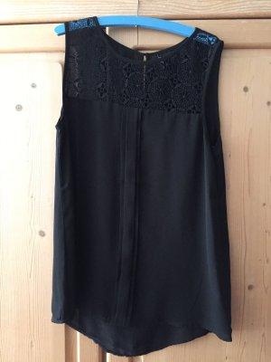 Only Mouwloze blouse zwart