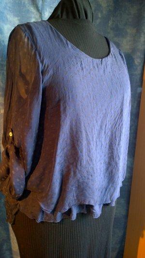 Blusa estilo Crash gris-gris pizarra Viscosa