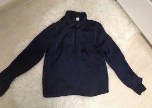 H&M Cuello de blusa azul oscuro