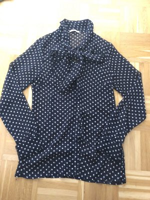 3 Suisses Blusa collo a cravatta blu scuro-bianco