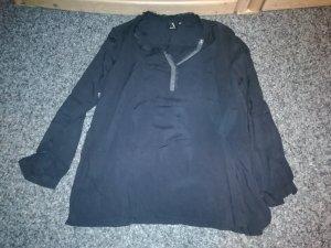 Slip-over blouse donkergrijs