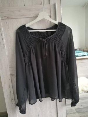Bluse dunkelgrau transparent von Cream