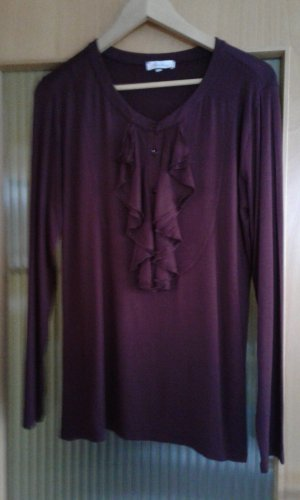 Aniston Ruche blouse braambesrood