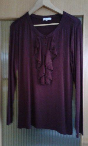 Aniston Ruche blouse braambesrood