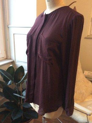 Bluse, dunkelrot, aubergine, toller Farbton, NEU mit Etikett, Gr. 38