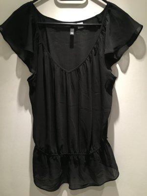 Bluse durchschimmernd in schwarz