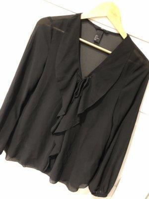 H&M Camicetta con arricciature nero