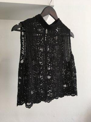 Forever 21 Crochet Top black