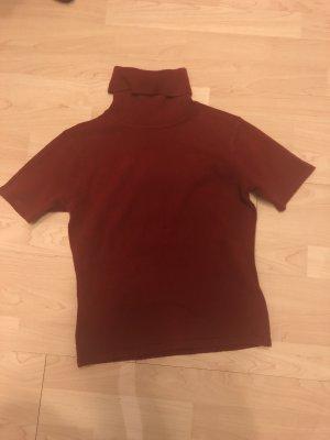 Inserción de blusa burdeos