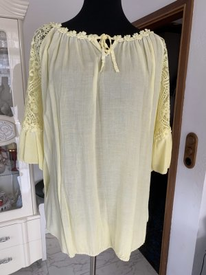 0039 Italy Lace Blouse yellow