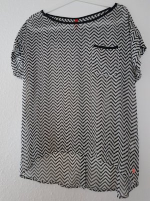 QS by s.Oliver Blusa ancha blanco-negro
