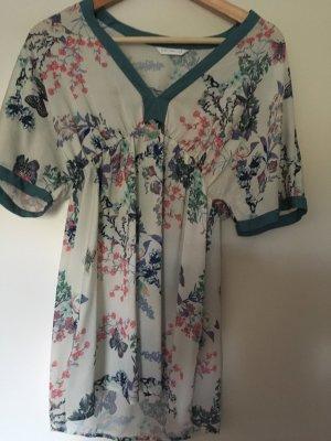Promod Blusa tipo kimono blanco puro-azul cadete