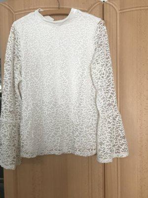 Comma Cuello de blusa blanco