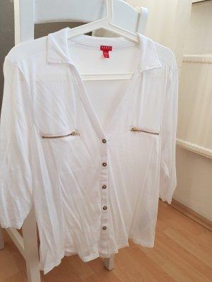 Guess Blusa blanco-color oro