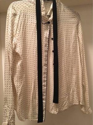 Mango Suit Blouse Collar white-black