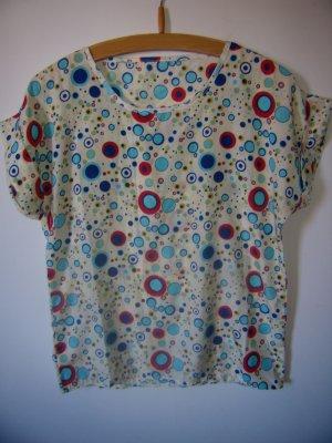 Blouse à manches courtes multicolore polyester