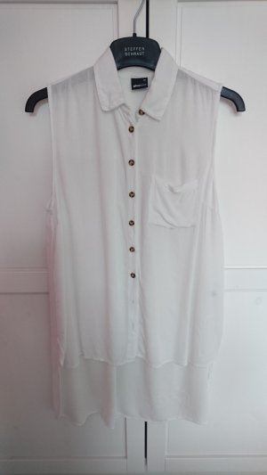 Gina Tricot Mouwloze blouse wit