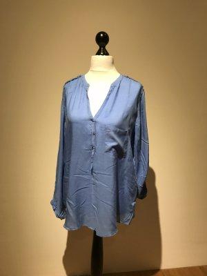 Zara Blouse bleu acier