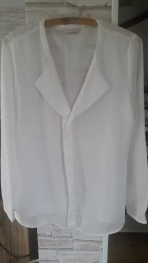 Bluse Esprit weiß transparent Gr. M