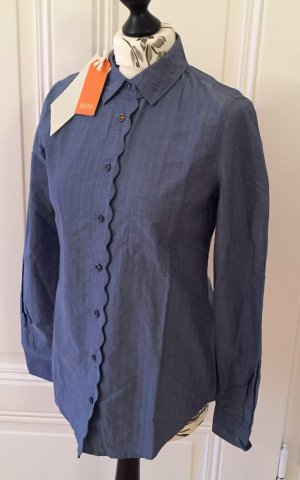 Boss Orange Blusa azul acero-gris pizarra