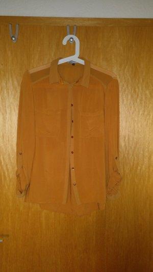 Bluse Farbe senf-gelb schlicht