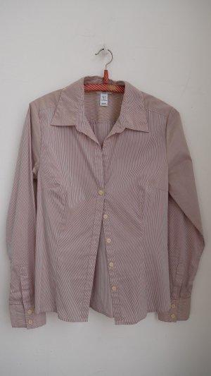 Bluse # feines Streifenmuster # hoher Stretch-Anteil # H&M # 36
