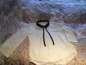 Clockhouse Chemisier kimono noir-blanc cassé