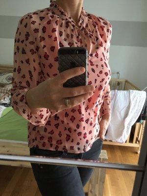 Garcia Blusa con lazo rojo claro-marrón claro