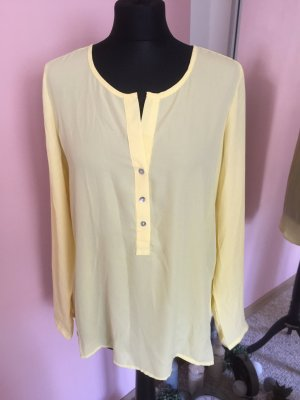 Long Sleeve Blouse pale yellow