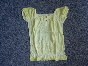 Bluse gelb kurzarm S